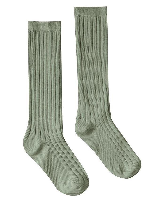 Little rylee + cru accessories solid ribbed socks in olive