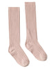 Little rylee + cru accessories solid ribbed socks in petal