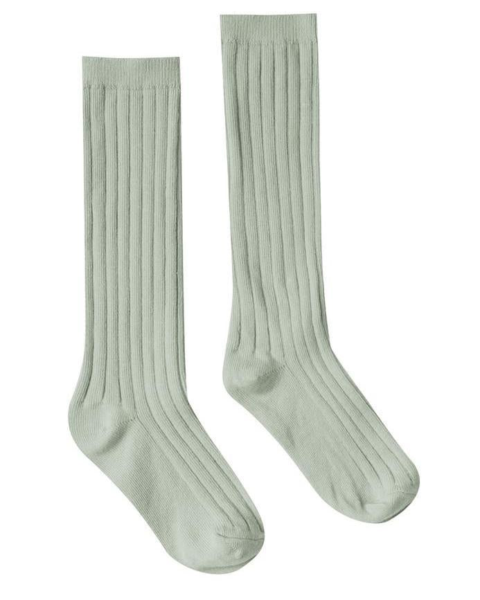 Little rylee + cru accessories solid ribbed socks in seafoam