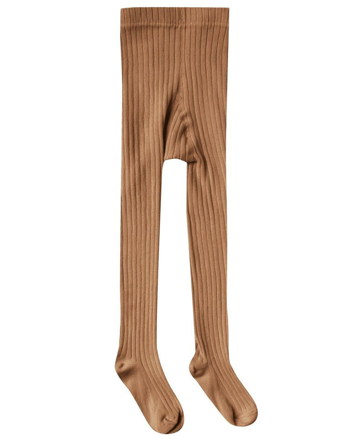 Little rylee + cru accessories solid ribbed tights in bronze