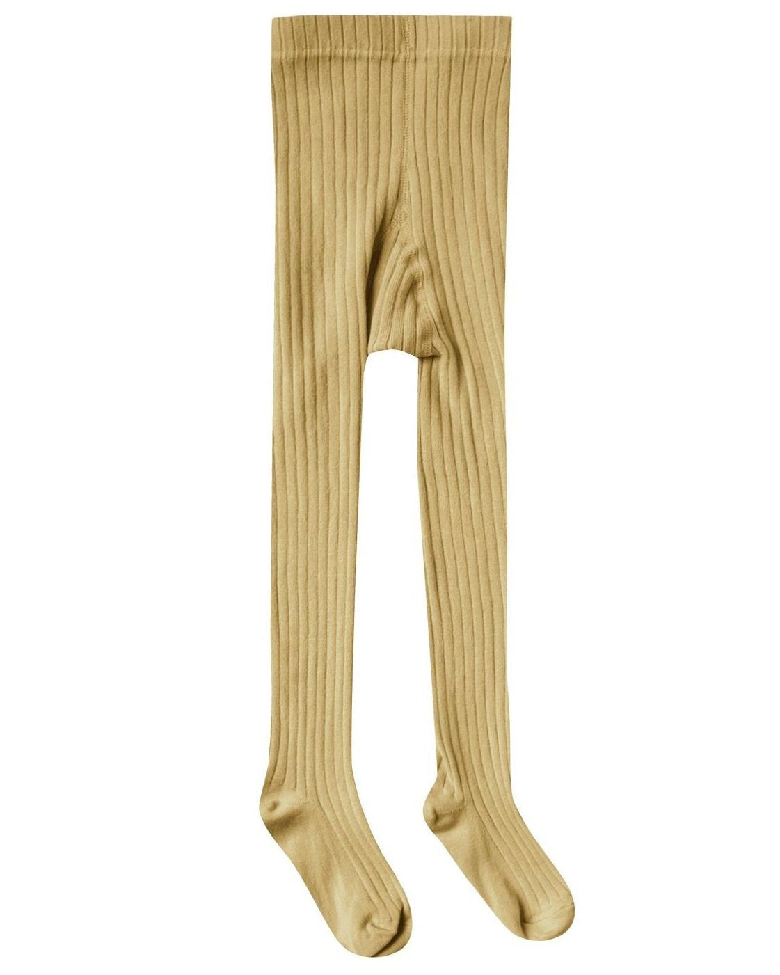 Little rylee + cru accessories solid ribbed tights in citron