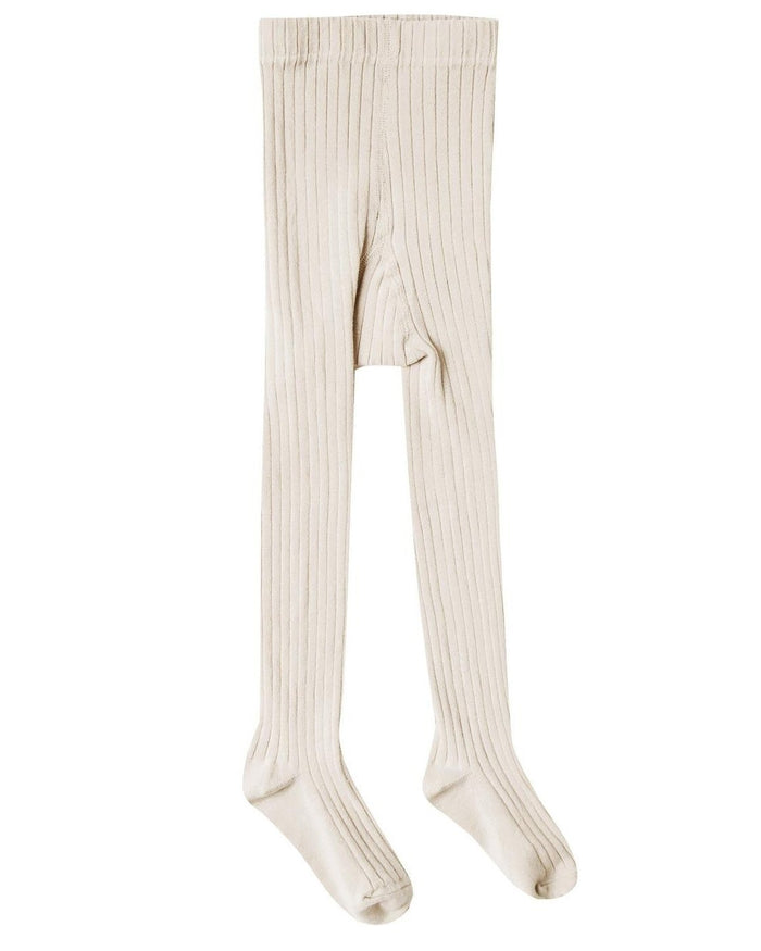 Little rylee + cru accessories solid ribbed tights in natural