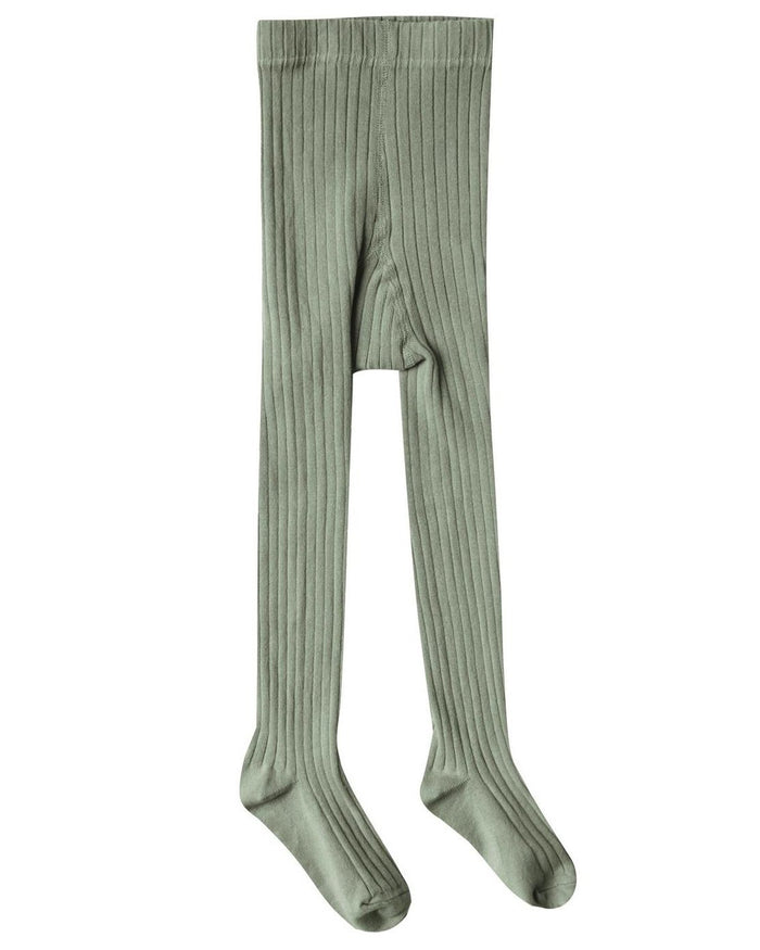 Little rylee + cru accessories solid ribbed tights in olive