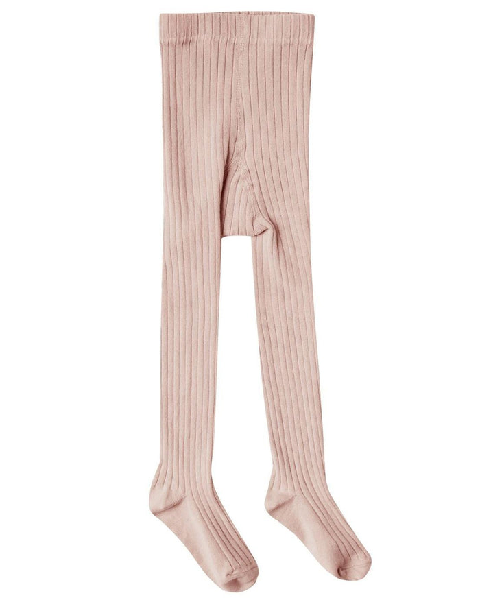 Little rylee + cru accessories solid ribbed tights in petal