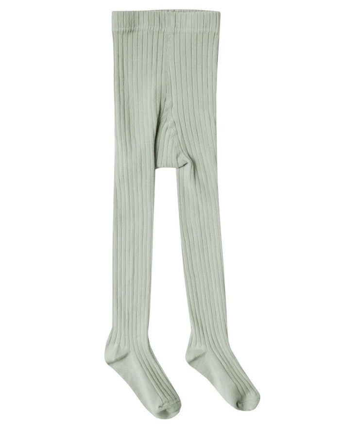 Little rylee + cru accessories solid ribbed tights in seafoam