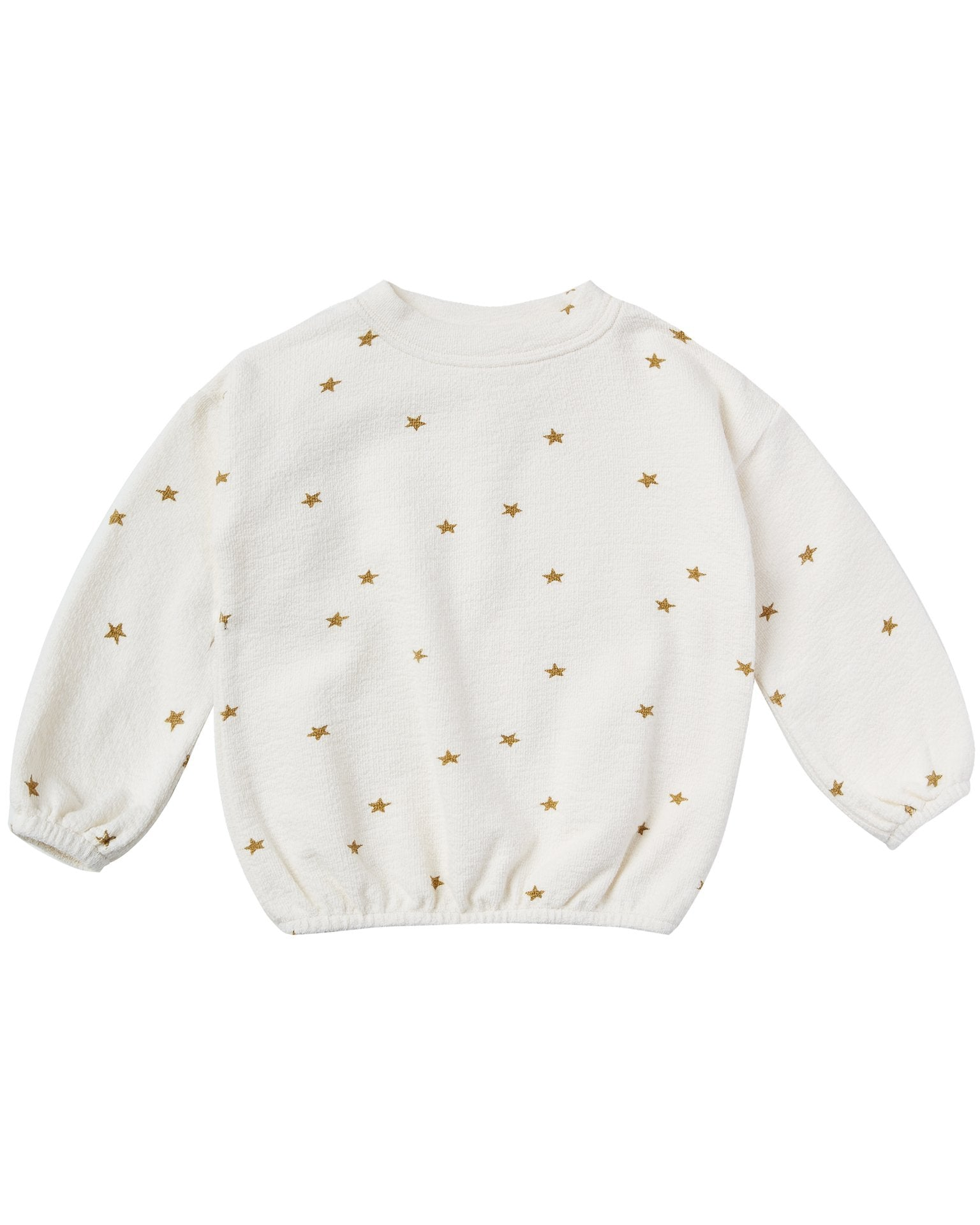 Little rylee + cru girl star slouchy pullover in ivory