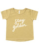 Little rylee + cru baby girl stay golden basic tee in citron