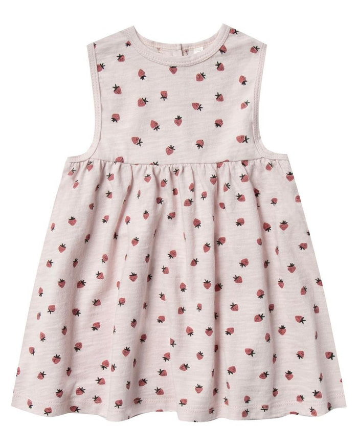 Little rylee + cru baby girl strawberry layla dress in lilac