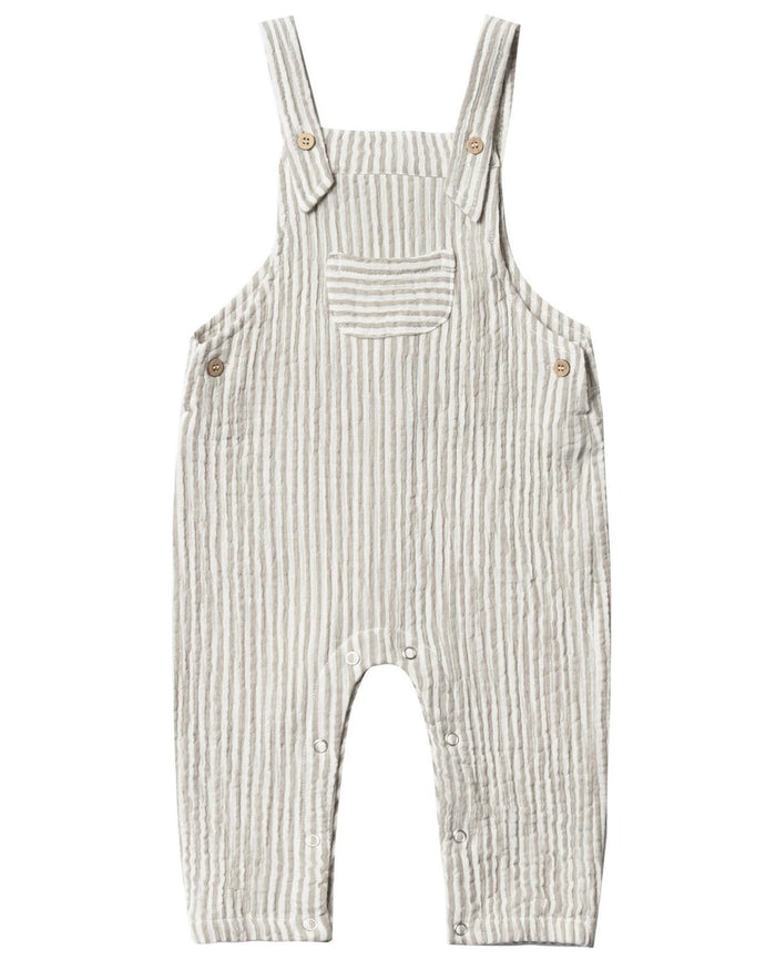 Little rylee + cru baby boy stripe baby overall in olive