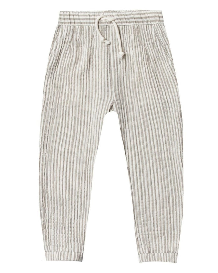 Little rylee + cru boy stripe beau pant in olive