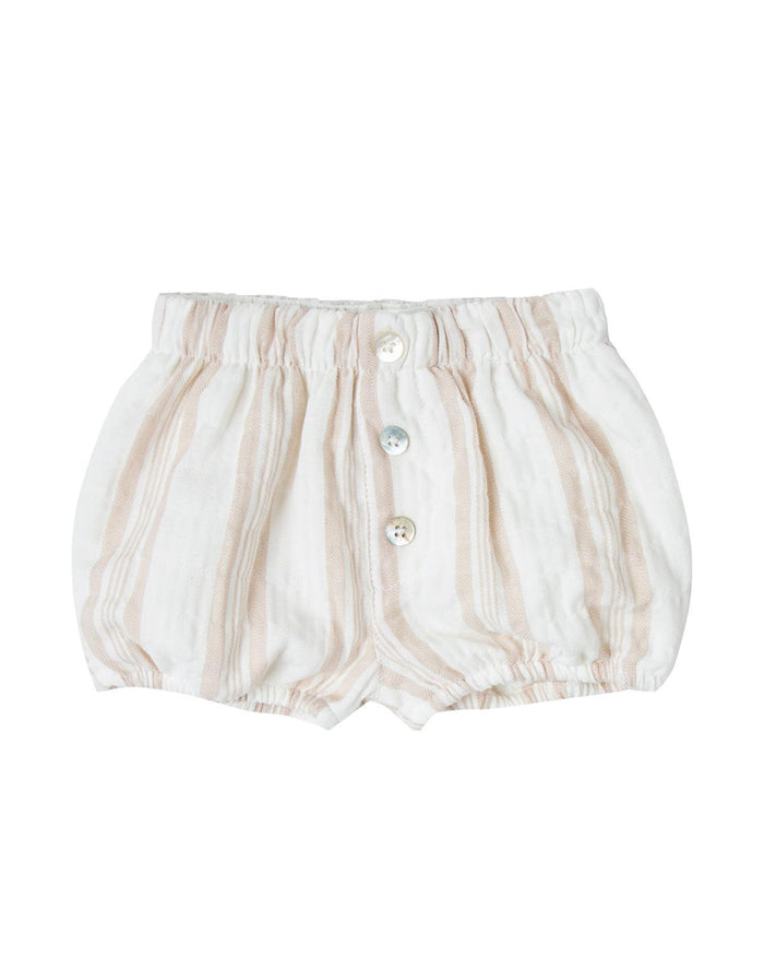 Little rylee + cru baby girl 0-3 stripe button short