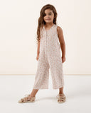 Little rylee + cru girl sunburst bridgette jumpsuit in lilac