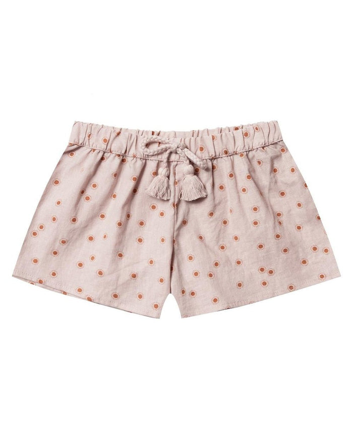 Little rylee + cru girl sunburst solana short in lilac
