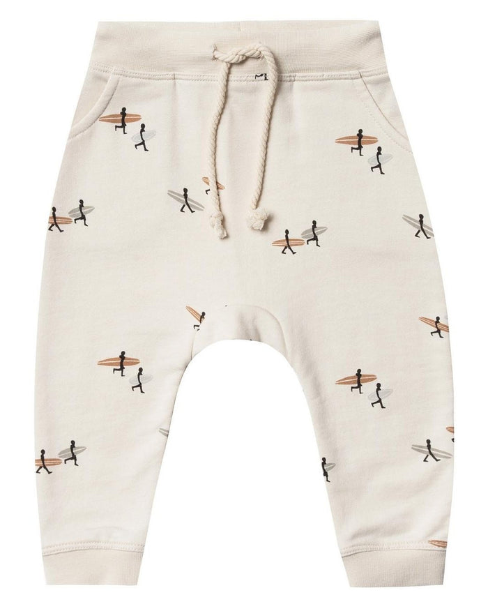 Little rylee + cru baby boy surfer sweatpant in natural