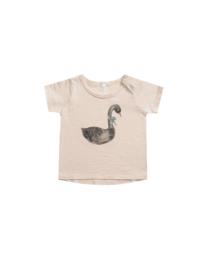 Little rylee + cru baby boy swan basic tee