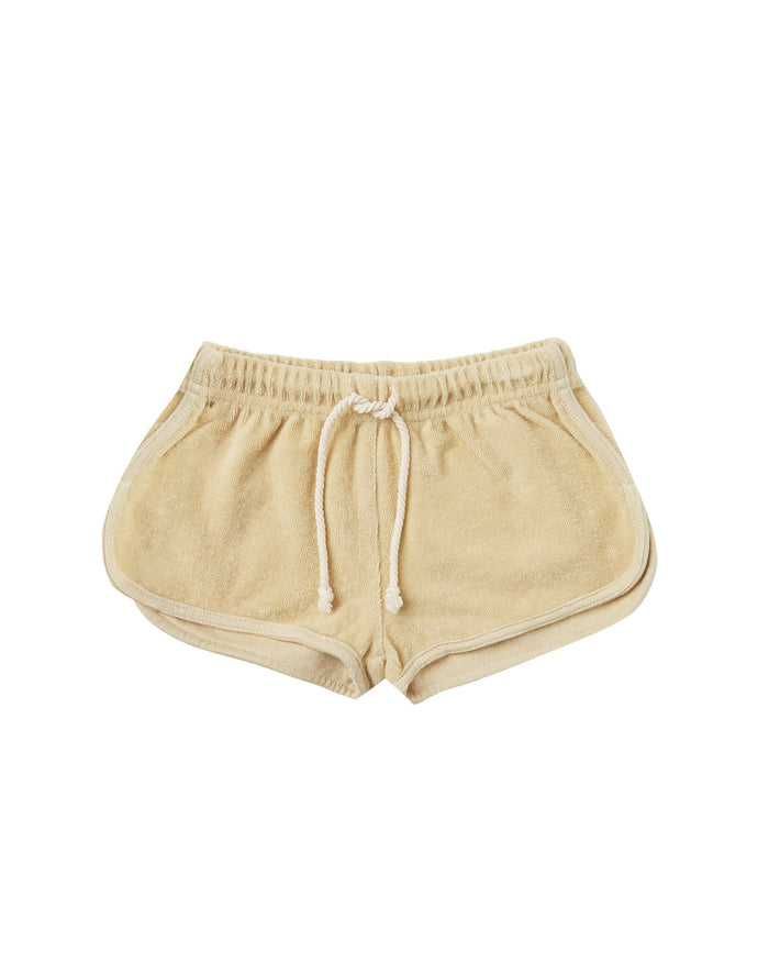 Little rylee + cru girl terry track short in butter