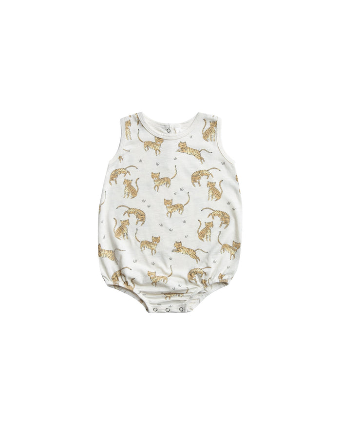 Little rylee + cru baby girl tigers bubble onesie