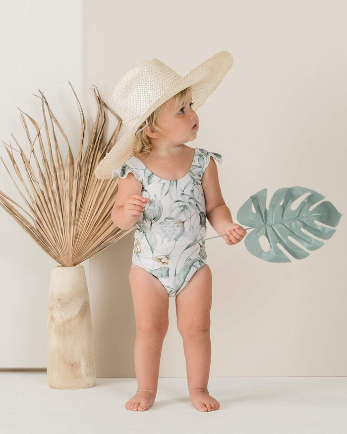 Little rylee + cru girl 2-3 tropical frill one piece
