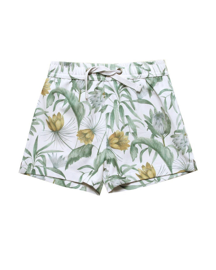 Little rylee + cru boy 2-3 tropical swim trunk