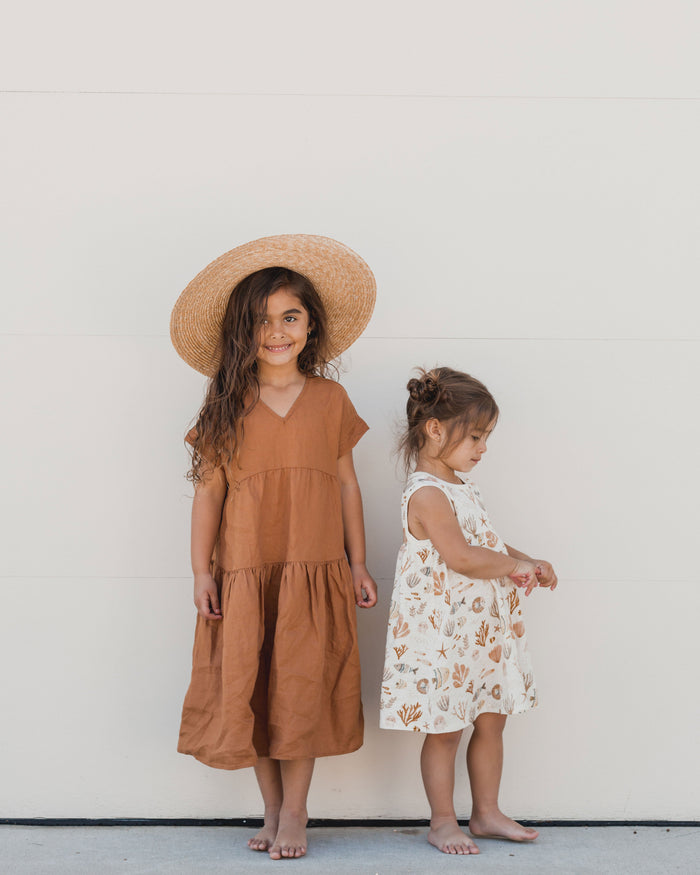 Little rylee + cru baby girl vienna dress in bronze