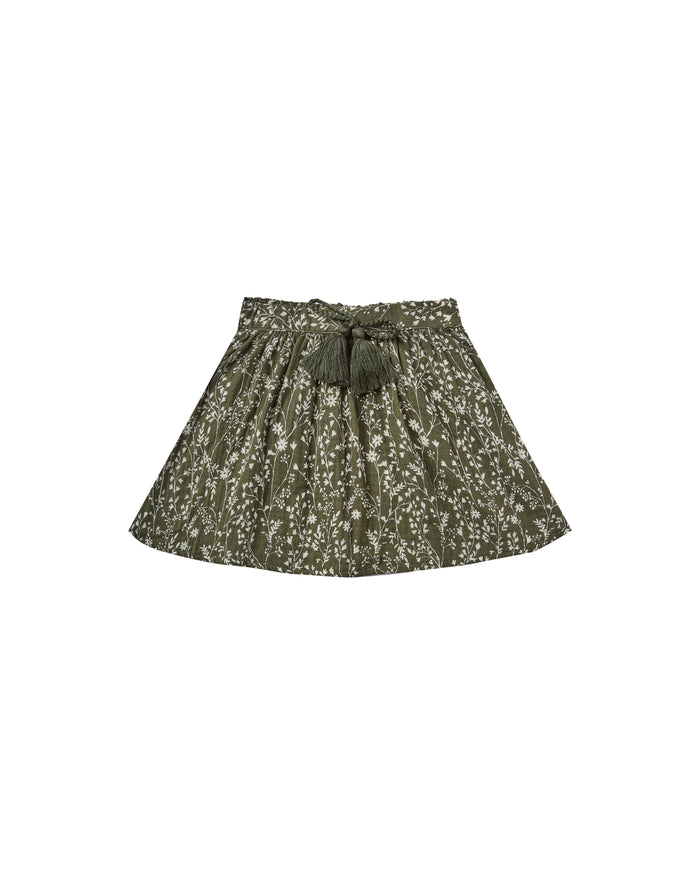 Little rylee + cru girl 2-3 vines mini skirt in forest