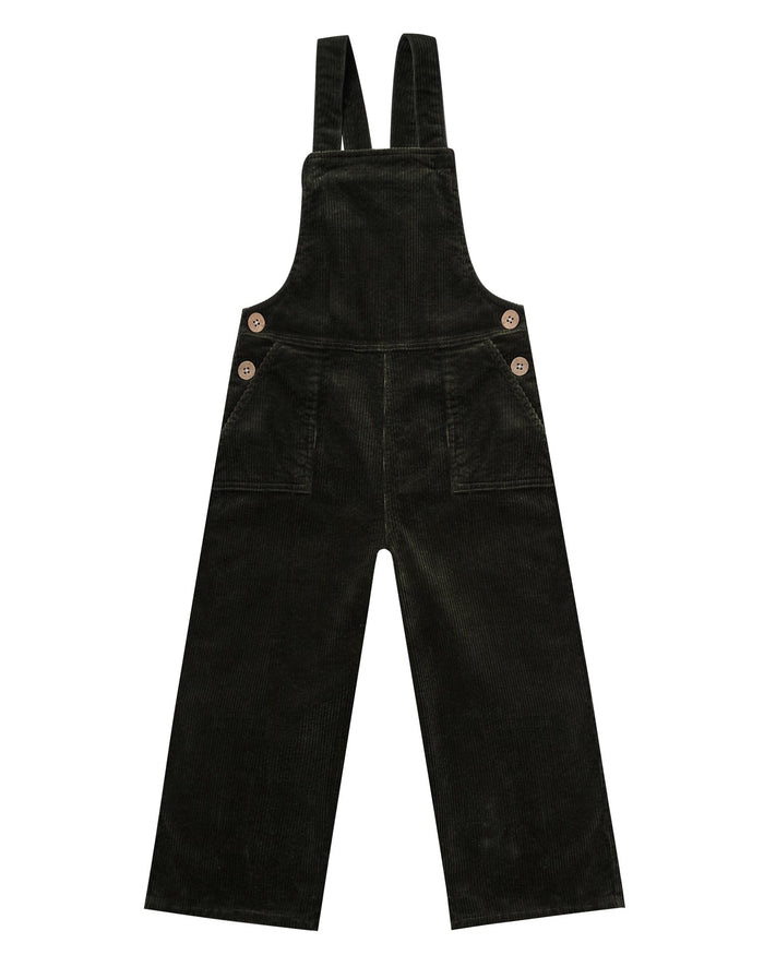 Little rylee + cru girl wide leg overall in vintage black