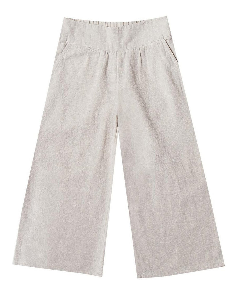 Little rylee + cru girl wide leg pant in silver