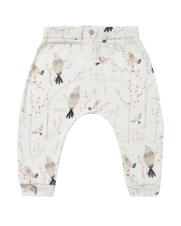Little rylee + cru baby boy winter birds slouch pant
