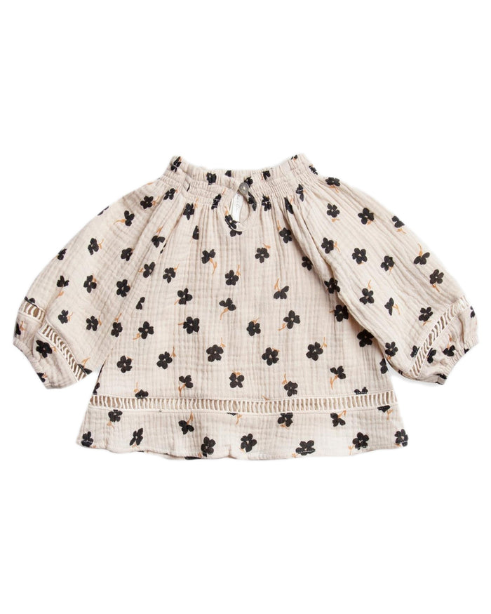 Little rylee + cru baby girl winter flower quincy blouse