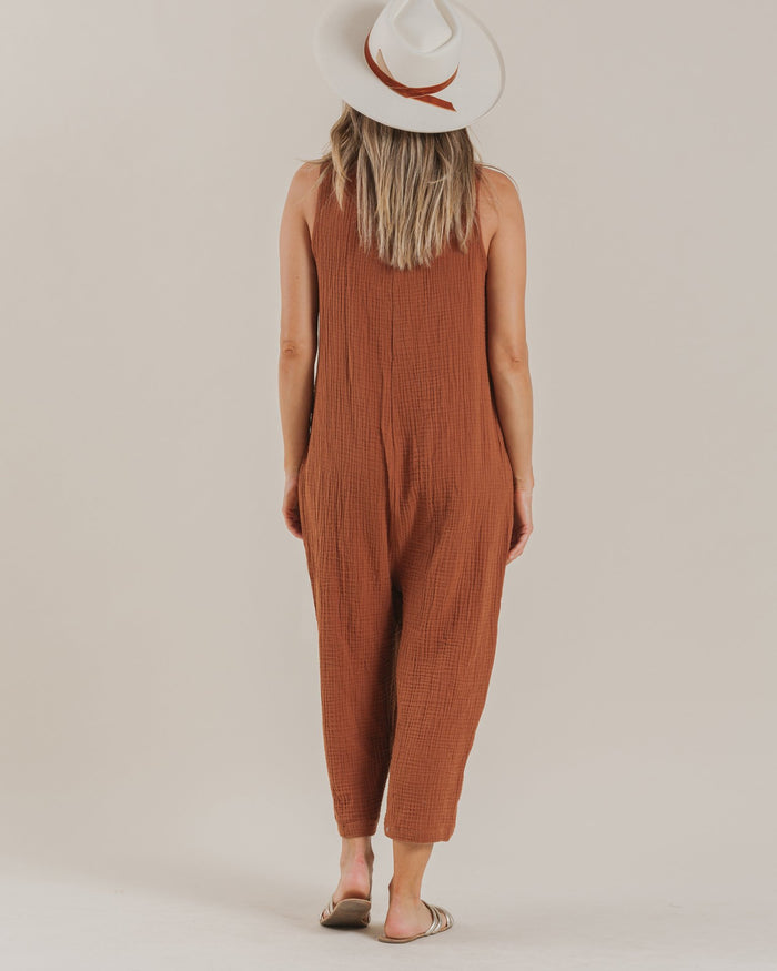 Little rylee + cru women woman bridgette jumpsuit in amber