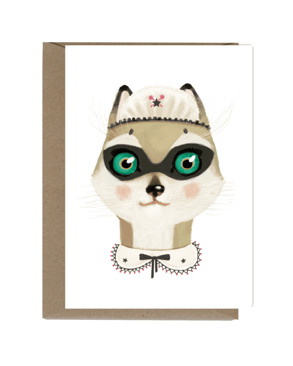 Little shhh my darling paper+party Cat with Fancy Collar Card