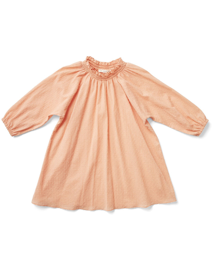 Little soor ploom girl claudette dress in melon