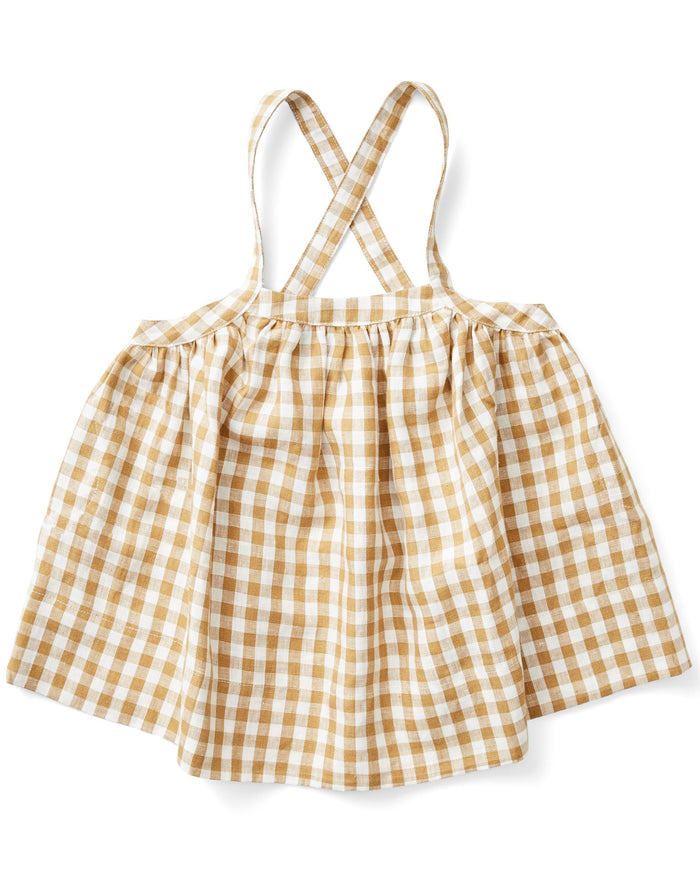 Little soor ploom girl eloise pinafore in gingham