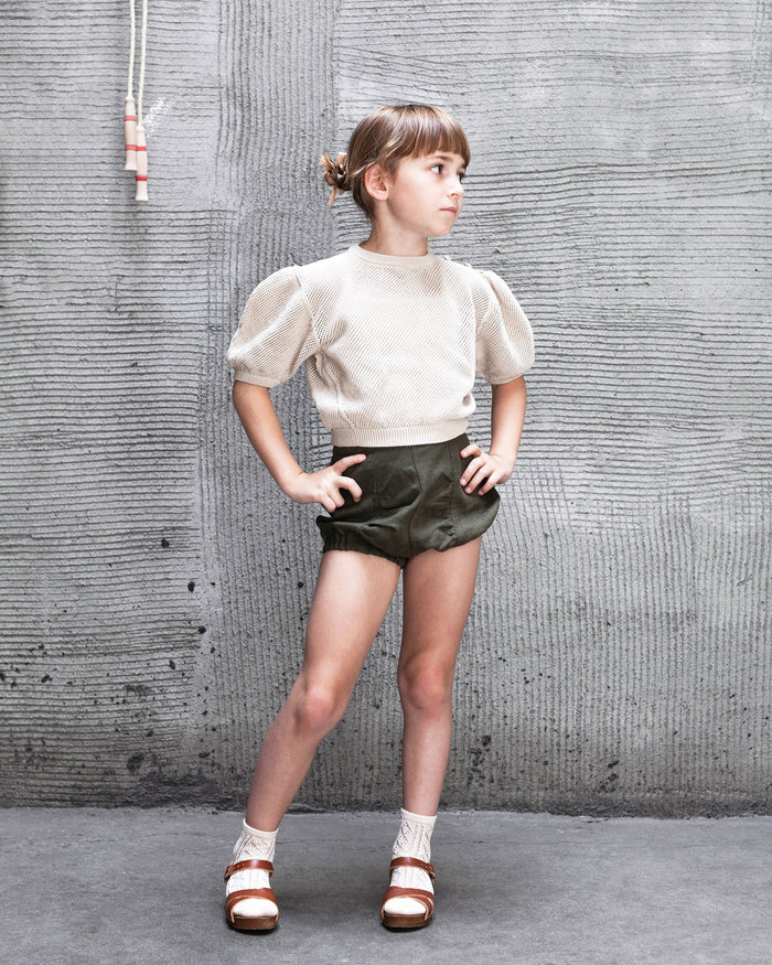 Little soor ploom girl frida knickers in morel