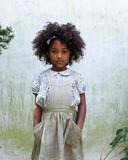Little soor ploom girl harriet pinafore in pond