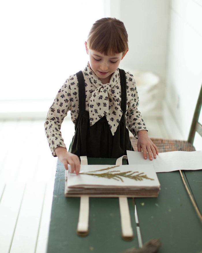 Little soor ploom girl ivy blouse in milkweed prairie print