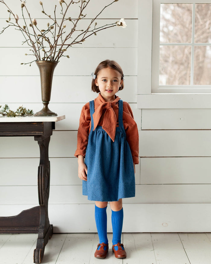 Little soor ploom girl ivy blouse in umber