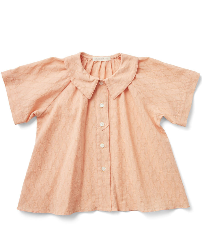 Little soor ploom girl lenu blouse in melon