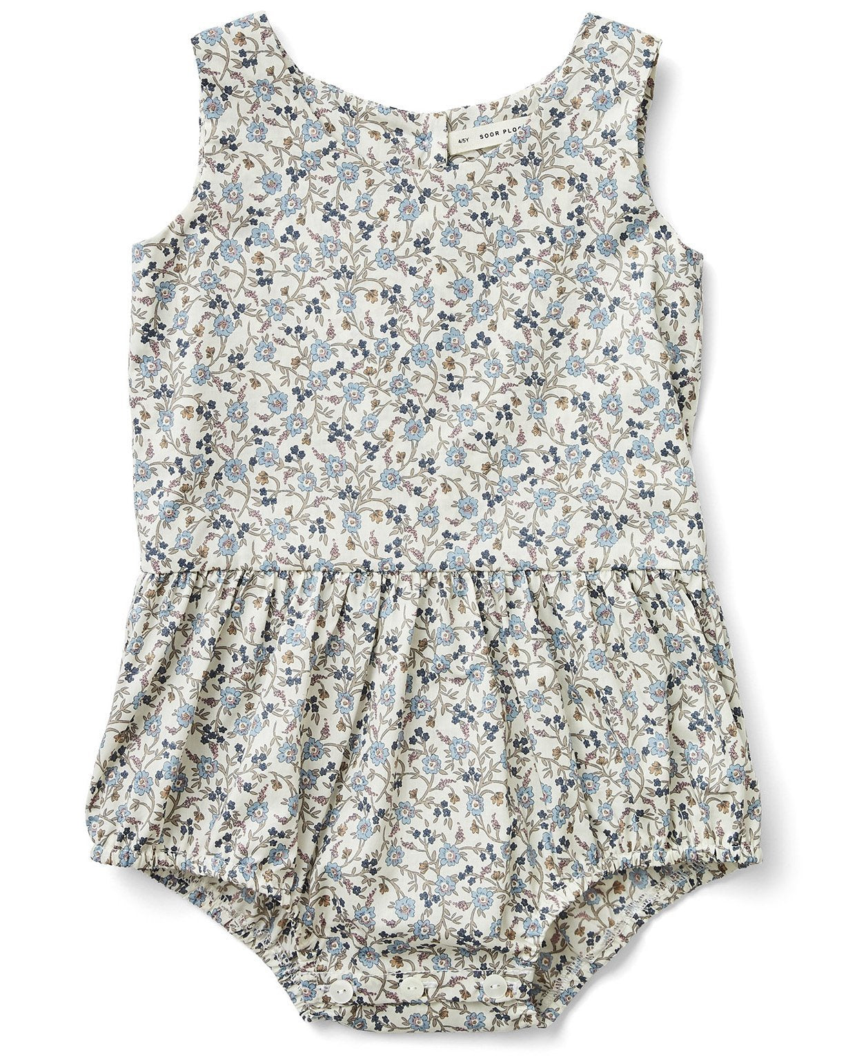 Little soor ploom girl lois playsuit in floral print