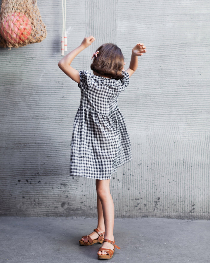 Little soor ploom girl maisy dress in gingham