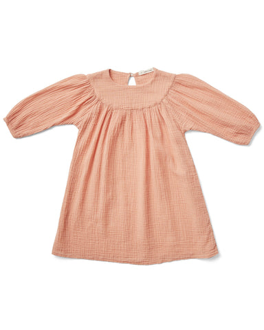 Little soor ploom girl mi casa dress in melon