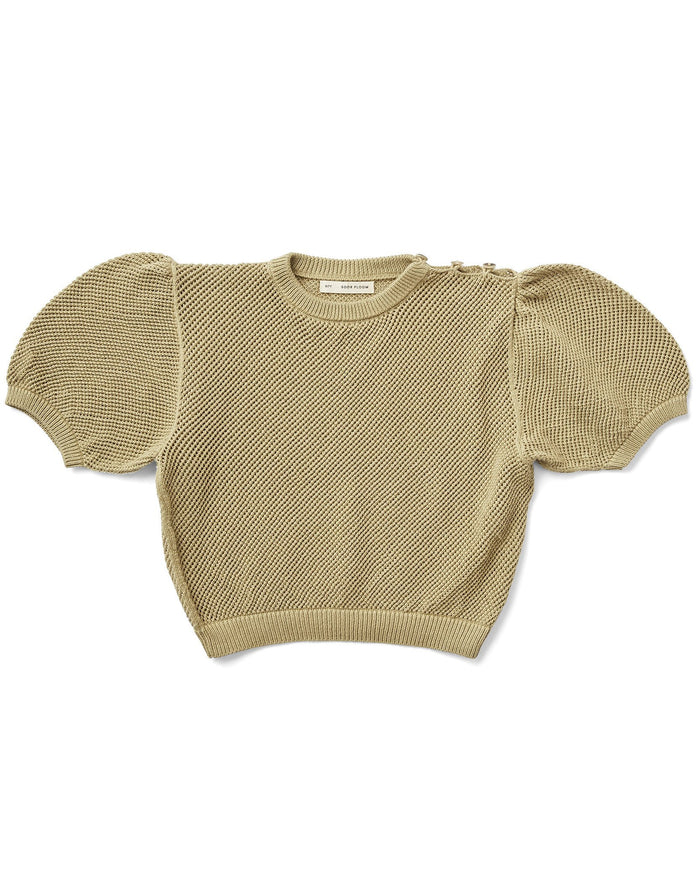 Little soor ploom girl mimi knit top in pond