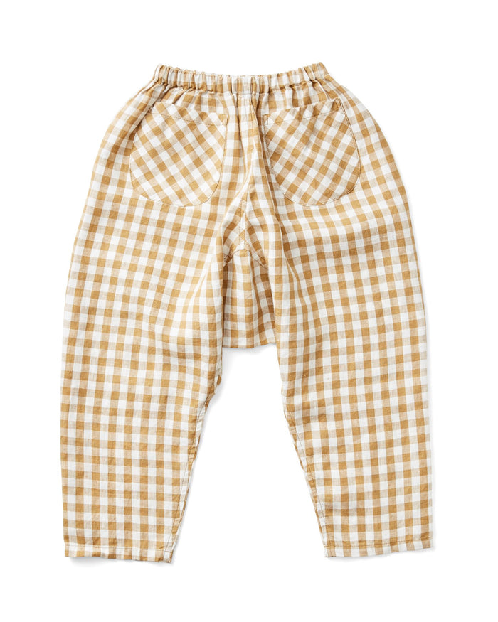 Little soor ploom girl otto trousers in gingham