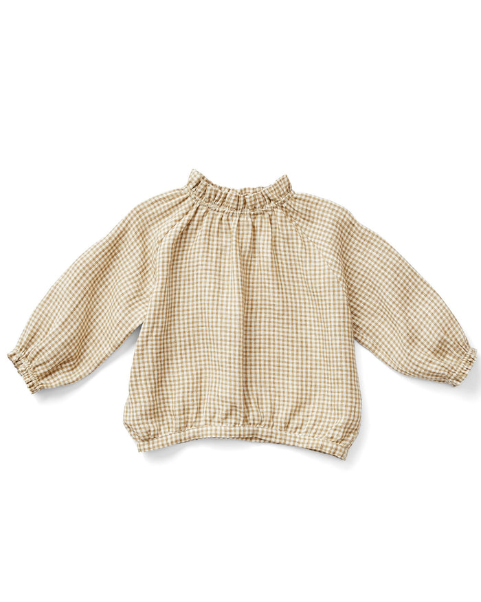Little soor ploom girl ramona blouse in gingham
