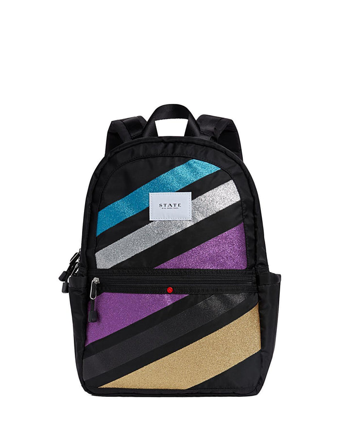 Little state bags accessories kane backpack in glitter stripes