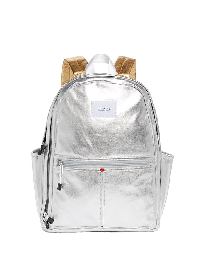 Little state bags accessories kent backpack in silver multi