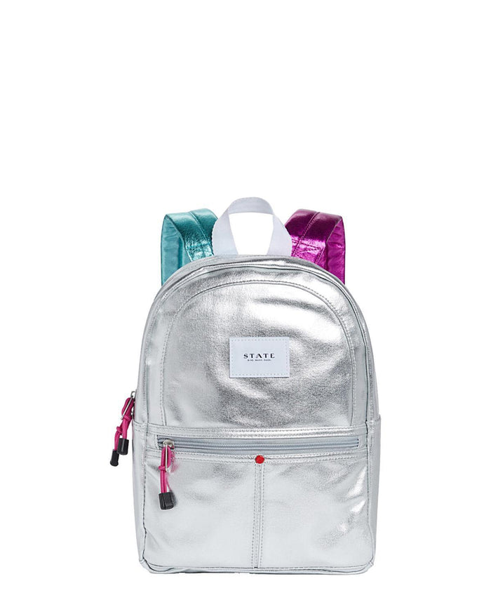 Little state bags accessories mini kane backpack in silver multi