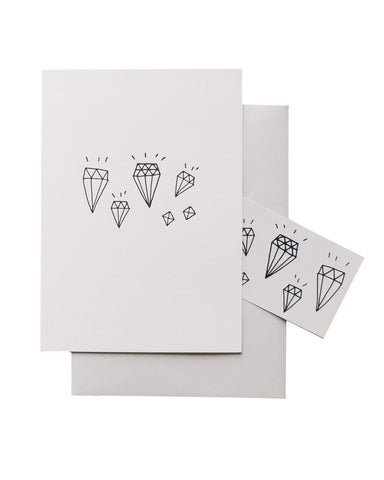 Little tattly paper+party Diamonds Card