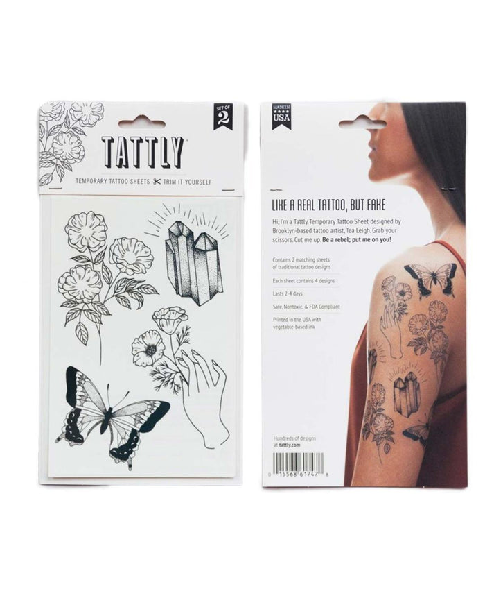 Little tattly paper+party Earthly Gems Tattoos