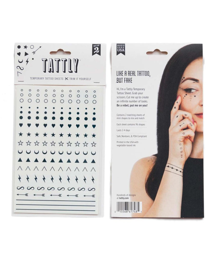 Little tattly paper+party Facial Expression Tattoos